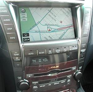 Lexus in-dash navigation system