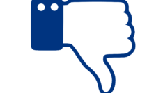 Facebook dislike thumbs down hate Dice